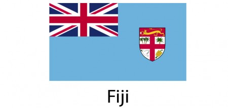 Fiji Flag sticker die-cut decals