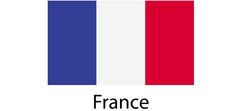 France Flag sticker die-cut decals