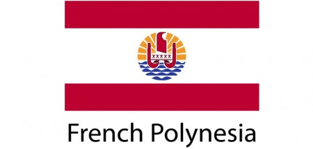 French Polinesia Flag sticker die-cut decals