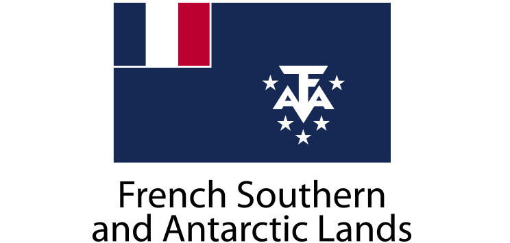 French Southern and Antartic Lands Flag sticker die-cut decals