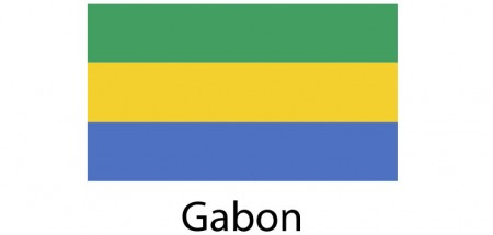 Gabon Flag sticker die-cut decals