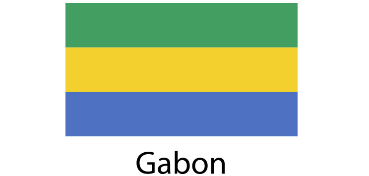 Gabon Flag sticker die-cut decals