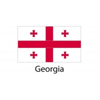 Georgia Flag sticker die-cut decals