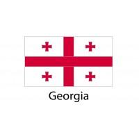 Georgia Flag sticker die-cut decals