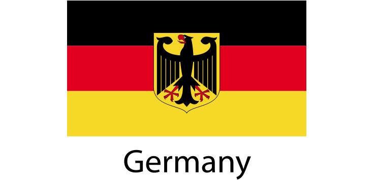Germany Flag sticker die-cut decals
