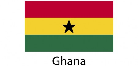 Ghana Flag sticker die-cut decals