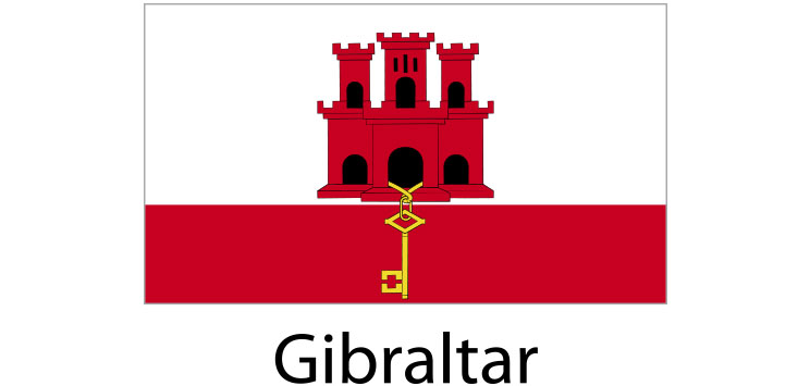 Gibraltar Flag sticker die-cut decals