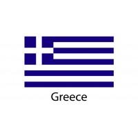 Greece Flag sticker die-cut decals