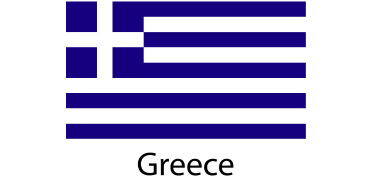 Greece Flag sticker die-cut decals