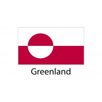 Greenland Flag sticker die-cut decals