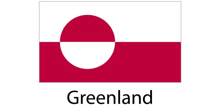 Greenland Flag sticker die-cut decals