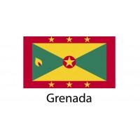 Grenada Flag sticker die-cut decals