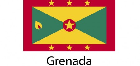 Grenada Flag sticker die-cut decals