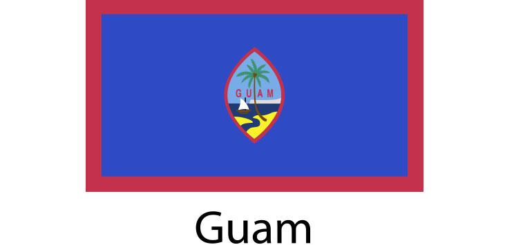 Guam Flag sticker die-cut decals