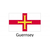 Guernsey Flag sticker die-cut decals