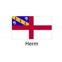 Herm Flag sticker die-cut decals