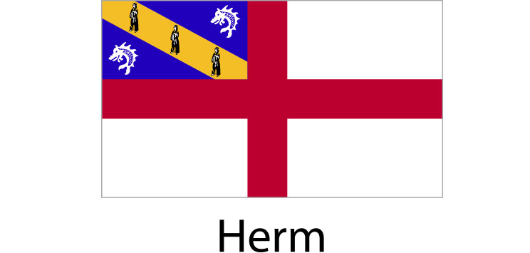 Herm Flag sticker die-cut decals