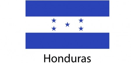 Honduras Flag sticker die-cut decals