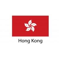 Hong Kong Flag sticker die-cut decals