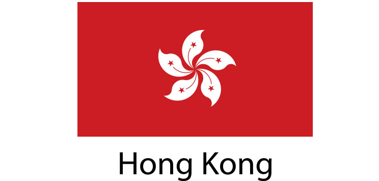 Hong Kong Flag sticker die-cut decals