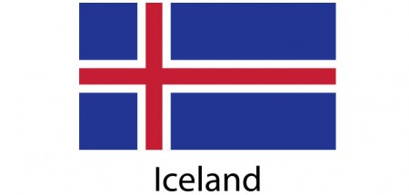 Iceland Flag sticker die-cut decals