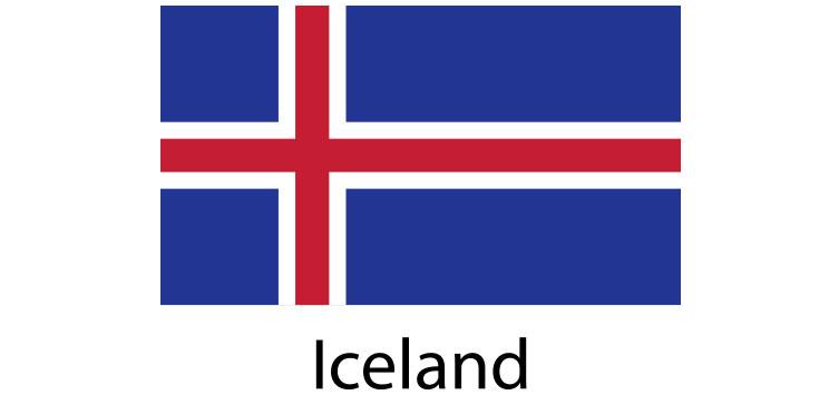 Iceland Flag sticker die-cut decals