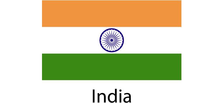 India Flag sticker die-cut decals