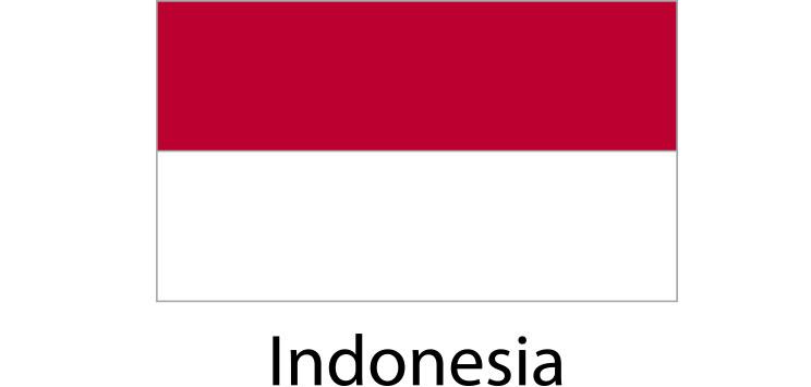 Indonesia Flag sticker die-cut decals