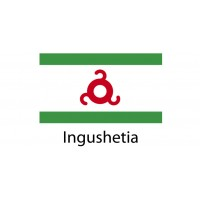 Ingushetia Flag sticker die-cut decals