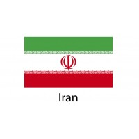 Iran Flag sticker die-cut decals
