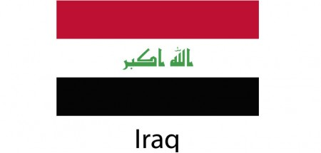 Iraq Flag sticker die-cut decals