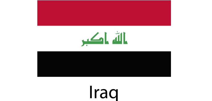 Iraq Flag sticker die-cut decals