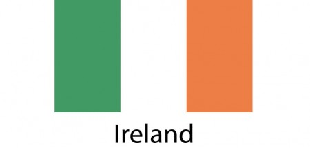 Ireland Flag sticker die-cut decals