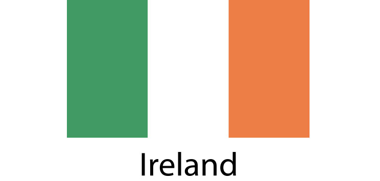 Ireland flag sticker die cut decals