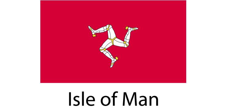Isle of Man Flag sticker die-cut decals