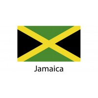 Jamaica Flag sticker die-cut decals