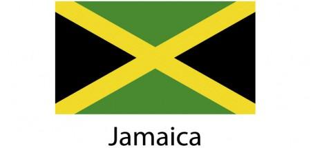 Jamaica Flag sticker die-cut decals