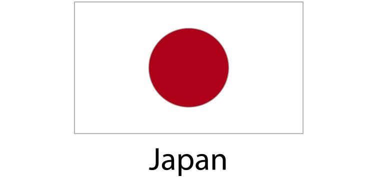 Japan Flag sticker die-cut decals