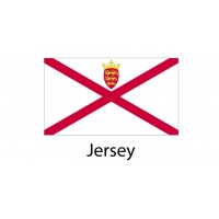 Jersei Flag sticker die-cut decals
