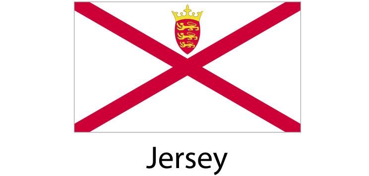 Jersei Flag sticker die-cut decals