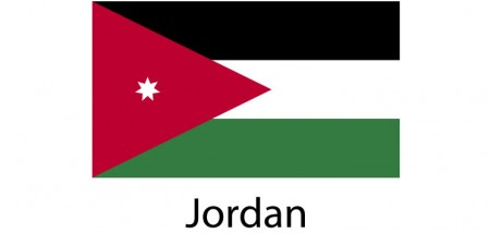 Jordan Flag sticker die-cut decals