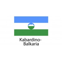 Kabardino Balkaria Flag sticker die-cut decals