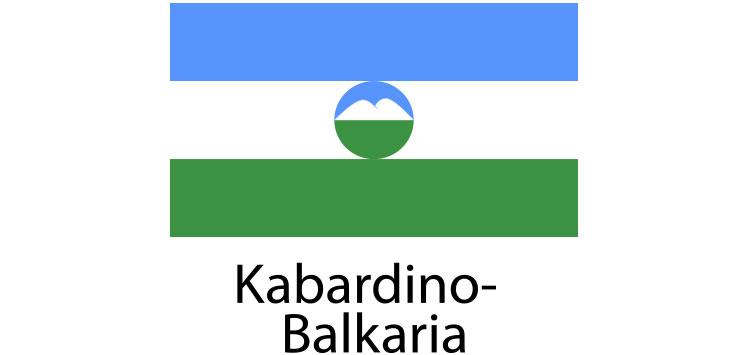 Kabardino Balkaria Flag sticker die-cut decals