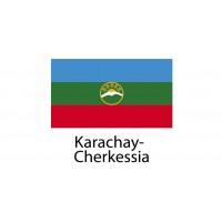 Karachay Cherkessia Flag sticker die-cut decals