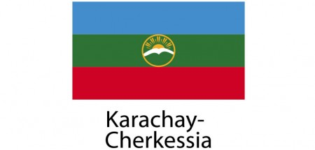 Karachay Cherkessia Flag sticker die-cut decals