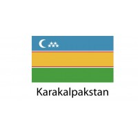 Karakalpakstan Flag sticker die-cut decals