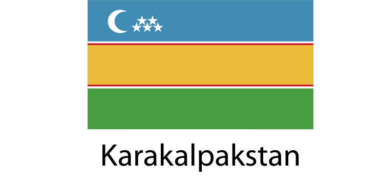 Karakalpakstan Flag sticker die-cut decals