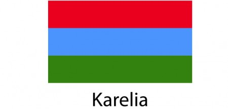 Karelia Flag sticker die-cut decals