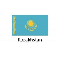 Kazakhstan Flag sticker die-cut decals