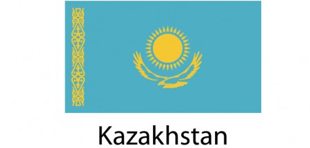 Kazakhstan Flag sticker die-cut decals